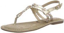 Tamaris 28159, Sandali con Cinturino alla Caviglia Donna, Oro (Multi Metallic), 39 EU