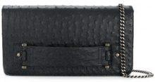 Naledi - Clutch con catena - women - Ostrich Leather - OS - Nero