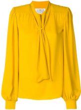 - Maison Margiela - Blusa con collo con fiocco - women - Silk - 42 - giallo