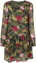 Twin-Set - floral camouflage flared dress - women - Polyester - XS, M, XXS, S, L - GREEN