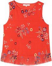 FIND Peplum Printed Camicia Donna, Rosso (Red Mix), 44 (Taglia Produttore: Medium)