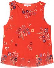 FIND Peplum Printed Camicia Donna, Rosso (Red Mix), 40 (Taglia Produttore: X-Small)