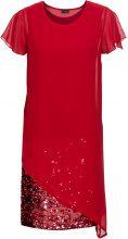 Abito elegante in jersey con paillettes (Rosso) - BODYFLIRT