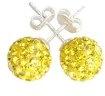 giallo zircone cristallo Orecchini a lobo da donna Argento 925