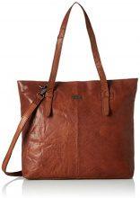 Spikes & Sparrow Zip Bag - Appendi borsa tascabili e ganci Donna, Braun (Dark Brown), 7x33x36 cm (B x H T)