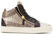 Giuseppe Zanotti Design - Sneakers alte - women - Leather/rubber - 36.5, 37, 40 - BROWN