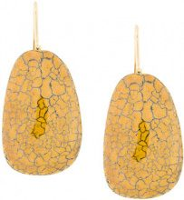 - Isabel Marant - cracked effect earrings - women - ceramic/ottone - Taglia Unica - di colore giallo