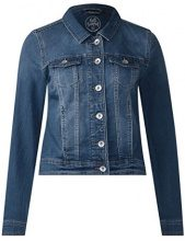 Street One 210702, Giacca in Jeans Donna, Blu (Authentic Mid Blue Wash 11414), 40