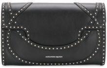 Alexander McQueen - Wicca envelope clutch - women - Leather - One Size - Nero