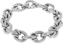 Tuscany Silver Bracciale da Donna in Argento Sterling 925, Placcato in Rodio, 20 cm