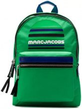 - Marc Jacobs - logo zipped backpack - women - Leather/Polyester - Taglia Unica - Verde