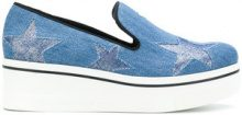 Stella McCartney - Star Binx slip-on loafers - women - Polyester/PVC/rubber - 40, 36, 38, 39 - BLUE
