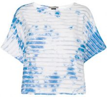 Suzusan - T-shirt 'Transparent Border' - women - Cotone/Polyester - S, M - BLUE
