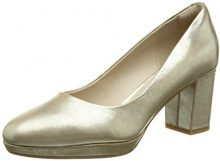Clarks Kelda Hope, Scarpe con Tacco Donna, Multicolore (Gold Metallic), 39.5 EU