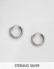 Kingsley Ryan - Orecchini a cerchio in argento sterling con incisioni