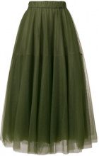 - P.A.R.O.S.H. - flared midi skirt - women - Acetate/Polyamide/viscose - XS - Verde