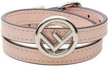 Fendi - F Is Fendi bracelet - women - Calf Leather/Brass - S, M - PINK & PURPLE