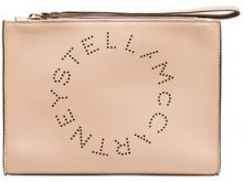 Stella McCartney - Logo PU Clutch - women - Polyurethane - OS - PINK & PURPLE