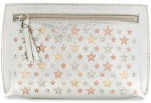 Jimmy Choo - Coralie studded pouch - women - Calf Leather - OS - METALLIC
