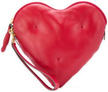 Anya Hindmarch - heart clutch bag - women - Lamb Skin - One Size - Rosso