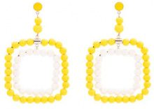Marni - Orecchini con perline - women - Resin/Brass - One Size - Giallo & arancio