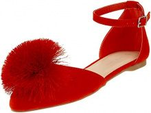 New Look Lommy, Ballerine Punta Chiusa Donna, Red (Bright Red 60), 38 EU