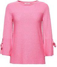 edc by Esprit 038cc1i018, Felpa Donna, Rosa (Pink Fuchsia 660), Small