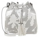 Shopping bag - white/black