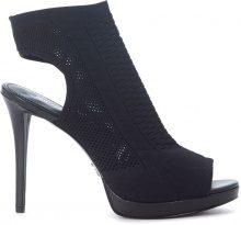Sandalo con tacco Michael Kors Tyra in tessuto nero