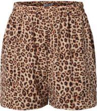PIECES Printed High Waist Shorts Women Beige