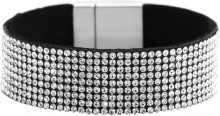 Bracciale largo con strass (Nero) - bpc bonprix collection
