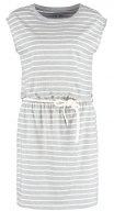 Vestito di maglina - grey melange/white