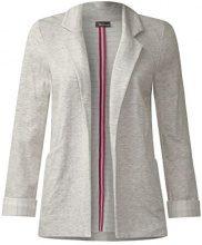 Street One 210563, Blazer Donna, Grigio (Misty Grey Melange 21030), 44 (Taglia produttore: 38)