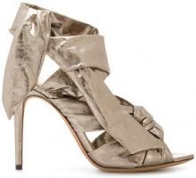 Alexandre Birman - Sandali 'Katherine' - women - Artificial Leather/Leather - 35, 35.5, 36, 36.5, 37.5, 37, 38, 38.5, 39, 39.5 - METALLIC
