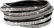 Bracciale con catenelle e strass (Nero) - bpc bonprix collection