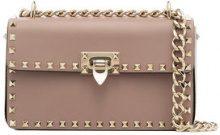 Valentino - pink garavani rockstud leather shoulder bag - women - Leather - One Size - PINK & PURPLE