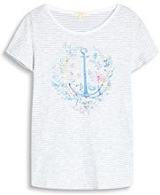 ESPRIT 057ee1k045, T-Shirt Donna, Multicolore (off White), 34 (Taglia Produttore: X-Small)