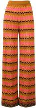 M Missoni - zigzag knit wide-leg trousers - women - Cotone/Polyamide/Polyester - 40, 42 - MULTICOLOUR