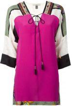 Etro - tassel tie printed blouse - women - Silk/Viscose/Cotone - 42, 44, 46 - Multicolore