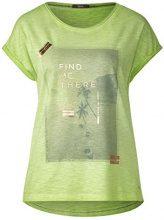 Cecil 312190, T-Shirt Donna, Verde (Sulphur Green 31336), XL