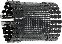 Paco Rabanne - mesh large bracelet - women - Aluminium - OS - Nero