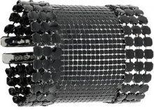 - Paco Rabanne - mesh large bracelet - women - Aluminium - Taglia Unica - Nero