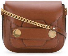 Stella McCartney - Stella Popper small shoulder bag - women - Polyamide/Polyester/Polyurethane - OS - BROWN