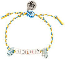 Venessa Arizaga - Bracciale 'Holla' - women - Cotone/ottone placcato argento/ceramic - OS - YELLOW & ORANGE