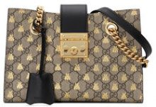 Gucci - Borsa 'Padlock GG' - women - Canvas/Leather/Microfibre - One Size - NUDE & NEUTRALS