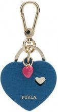 Furla - heart keyring - women - Leather/metal - OS - BLUE