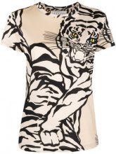 Valentino - tiger motif T-shirt - women - Cotone - XS, S, M, L - NUDE & NEUTRALS