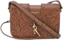 Saint Laurent - embossed satchel - women - Leather - OS - BROWN