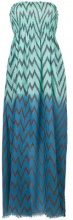 Tara Matthews - Capo zig-zag maxi beach dress - women - Cotone - 0, 1 - Blu