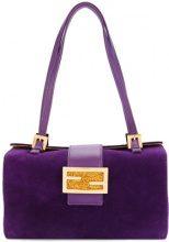 - Fendi Vintage - FF logo handbag - women - Leather/Suede - OS - Rosa & viola